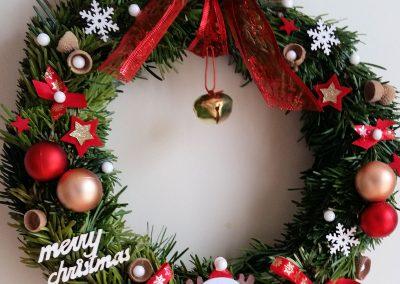 Couronne de Noël rouge
