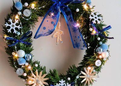 Couronne de Noël bleu
