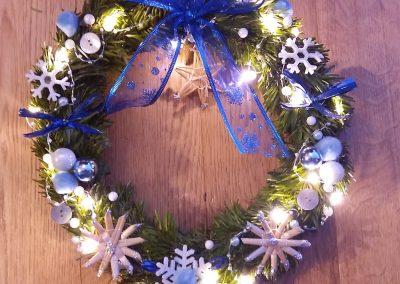 Couronne de Noël lumineuse