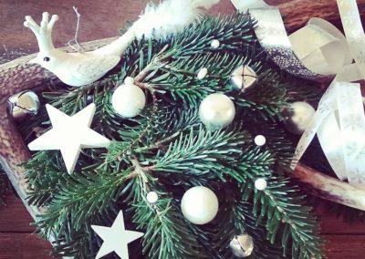 Couronne de Noël blanc - argent